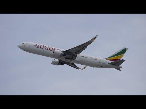 Ethiopian Airlines Boeing 767-300ER [ET-ALJ] Departing LAX!!