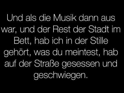 Bosse-Liebe ist leise (Lyrics)