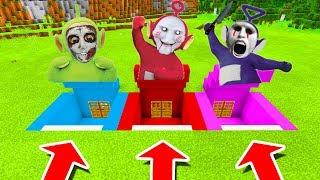 Minecraft PE : DO NOT CHOOSE THE WRONG SECRET BASE! (Tinky Winky, Dipsy & Po Slendytubbies)