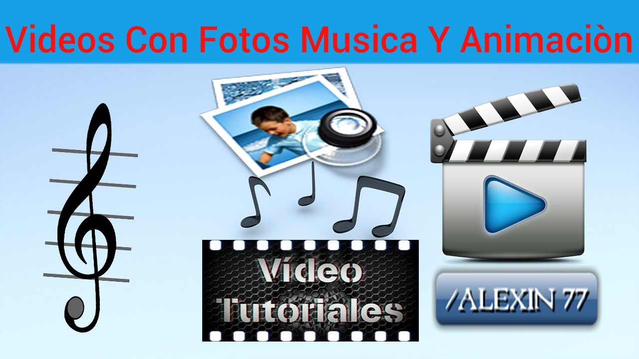 Como hacer videos con fotos musica y animaci n 2014 facil youtube Imagenes con animacion