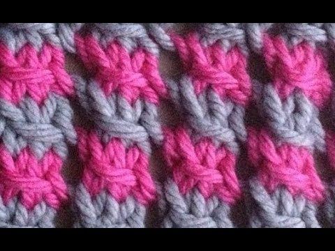 How to Knit a Two-Color Star Stitch ?by ThePatterfamily - YouTube