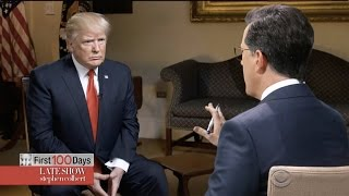 Stephen Colbert Goes One-On-One With Trump