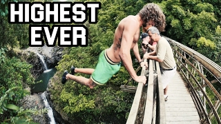 HIGHEST CASTAWAY EVER! Maui Cliff Jumping (4K)