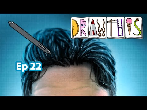 Hair - Draw This [Episode #22] (Painter 2015 & Photoshop Tutorial)