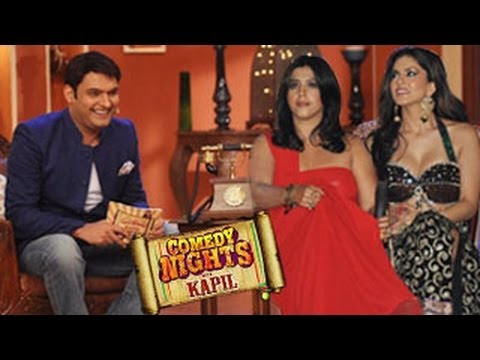 Sunny Leone & Ekta Kapoor On Comedy Nights With Kapil 8th March 2014 video