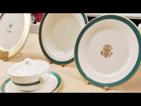 White House China Service Revealed by First Lady Michelle Obama