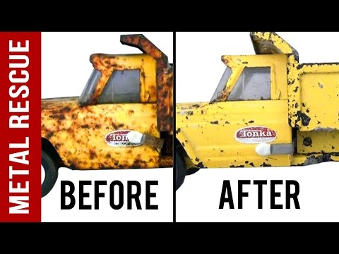 How To Remove Rust From Antique Toys Without Harming the Paint: Time Lapse
