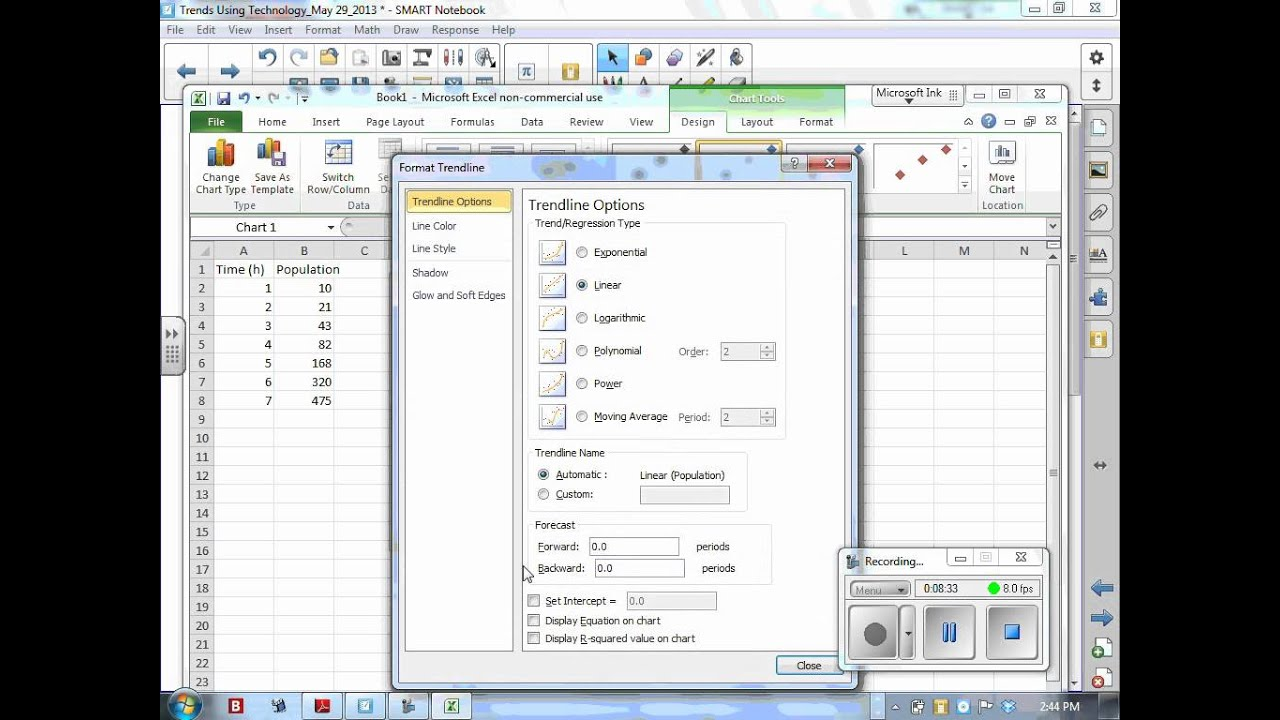 how to add regression in excel 2013