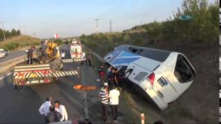 Bir Yolcu Otobüsü Kazası Daha:1 Ölü, 32 Yaralı