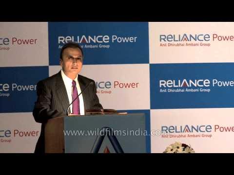 Anil Ambani speaks at Reliance Power IPO listing ceremony in Mumbai