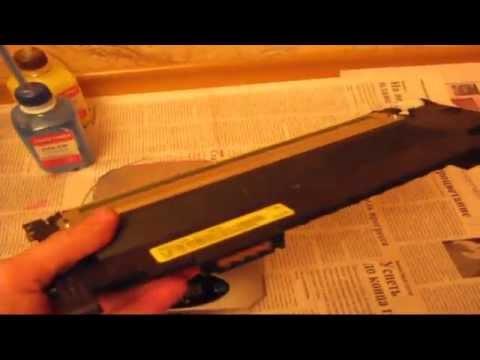 Сколько сыпать порошка тонер в картриджа принтера samsung CLX-3185