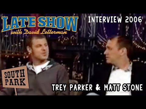 Trey Parker & Matt Stone on The Late Show With David Letterman 15/05/2006