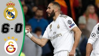 Real Madrid vs Galatasaray 6-0 - All Goals & Highlights - 2019 Benzema with double