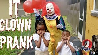 "SCARY ""IT"" CLOWN PRANK! (GONE WRONG)"