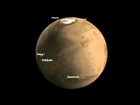 NASA's Six Martian Landing Sites | JPL Mars Lander MSL Rover Space Science Program Video