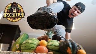UNBREAKABLE GORILLA TAPE BOOT vs FRUIT NINJA (DANGER ALERT)