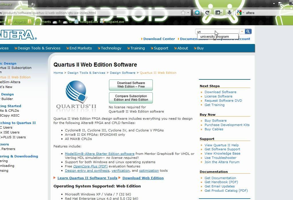 VHDL Tutorial 1: Installing Quartus II and Drivers of Altera DE ...