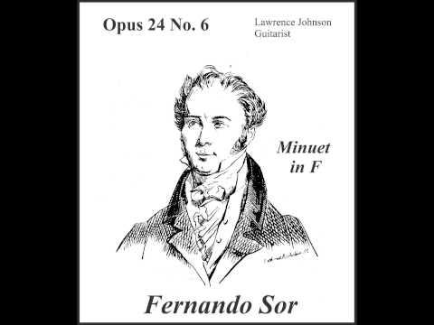 Fernando Sor - Menuet No 6 Opus 24