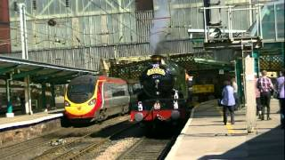 5043 Earl of Mount Edgcumbe on the historic  Castle to Scotland tour at Carlisle 26 May 2012.mpeg