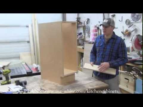 How to Build Kitchen Cabinet Carcass - YouTube