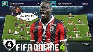 """FIFA ONLINE 4   Trần Minh Khôi """"KHÓC THÉT"""" Khi Balotelli """" ĐEN CÒN LẮM LÔNG """"   SGFC CUP #1"""