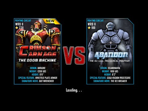 Real Steel WRB ChampionShip Crimson Carnage VS Abandon NEW ROBOT UPDATE