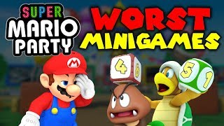 Top 10 WORST Super Mario Party MINIGAMES!