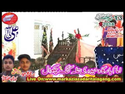 Zakir Mushtaq Naheed Jag Jashan 13 Rajab 2018 Talagang