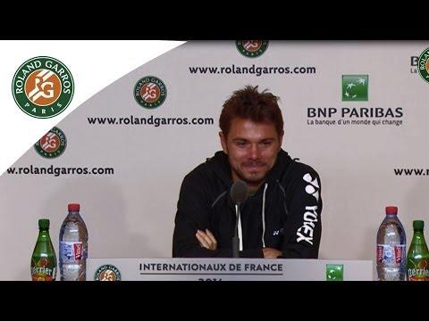 Press conference Stanislas Wawrinka 2014 French Open R1