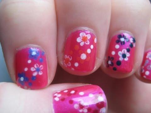 Nail Art Flower Designs Beginners Beginners Nail Art on