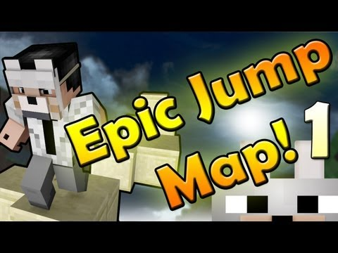 Minecraft Mini-game: Epic Jump Map! Ft. Burnalex (Facecam) (Part 1)