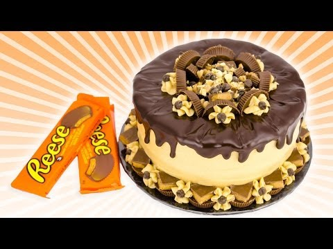 Chocolate Peanut Butter Cake: Reeses Cake from Cookies Cupcakes and Cardio