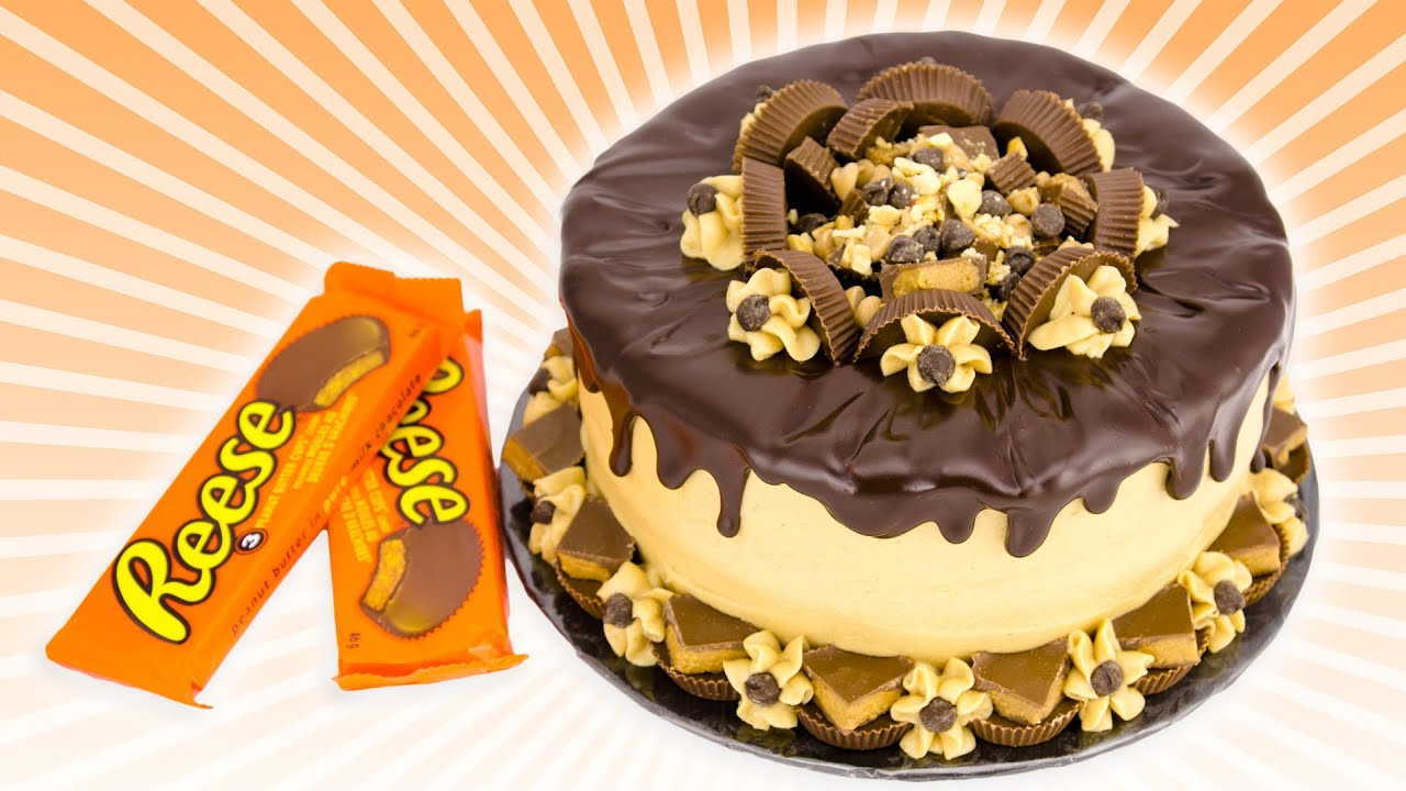 Chocolate Peanut Butter Cake: Reeses Cake from Cookies Cupcakes and ...