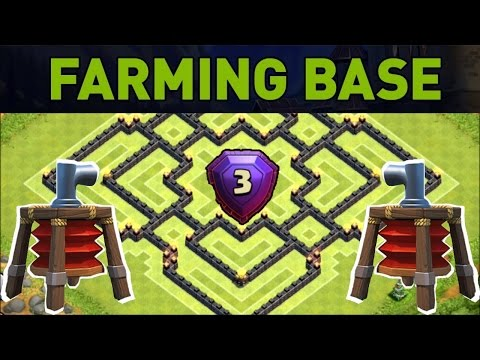 Best town hall 9 farming base with 2 air sweepers videolike