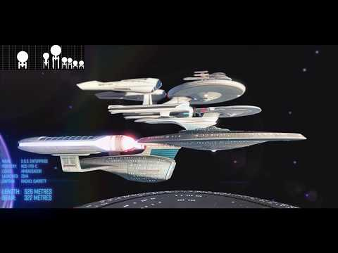 Every Iteration of the USS Enterprise from Star Trek - Size Comparison