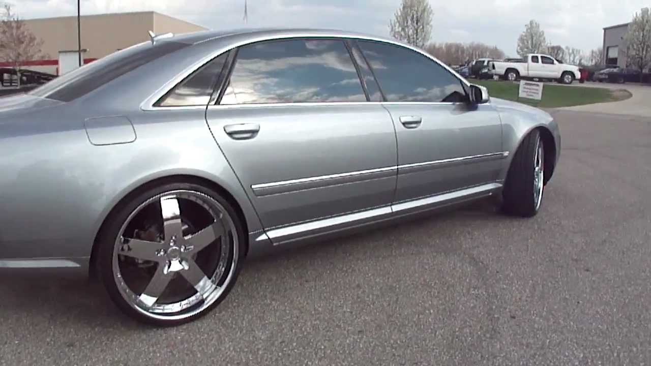 Silver Audi A8 On 24 S Vellano Wheels Spade Kreations