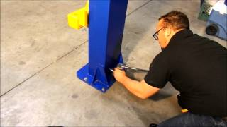 How to install a portable 2 Post Car Lift - 866-607-4022