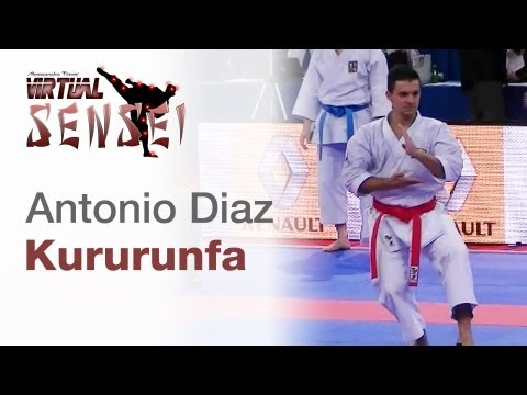 Antonio Diaz - Kata Kururunfa - 21st Wkf World Karate Championships Paris Bercy 2012 video