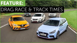 Hot Hatch Drag Race and Track Times - i30N vs Megane RS vs 308 GTi vs Mini JCW vs Octavia vRS