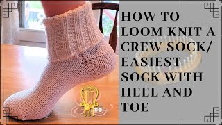 How to Loom Knit The Easiest Socks with a Toe and a Heel