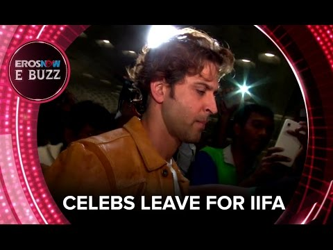 Celebs Leave For IIFA | ErosNow EBuzz | Hrithik Roshan, Ranveer Singh, Arjun Kapoor, Sonakshi Sinha