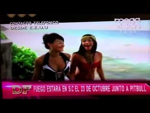 Fuego Entrevista telefonica - Divinas & Famosos Megavision Bolivia