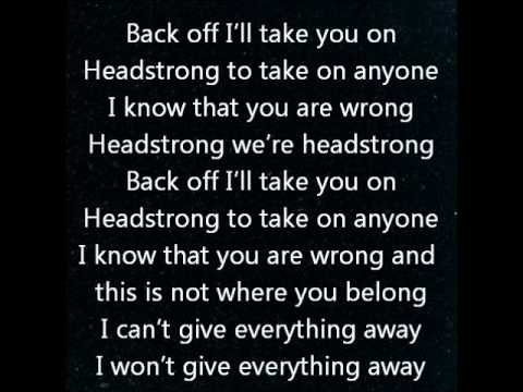 Headstrong-trapt Lyrics video