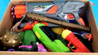 Box of Toys ⚔️ Toy Guns 🔫 Toy Weapons 🛡 Toys for Kids 💣 NERF Guns ⚔️ Kids Fun