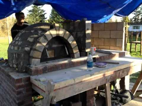 how to build your own outdoor kitchen pizza oven italian bbq build