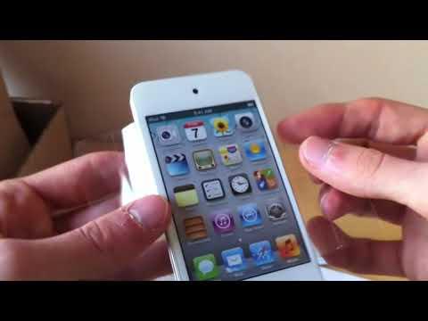 Déballage (Unboxing) de l'iPod Touch 4G Blanc (nouveau modèle)