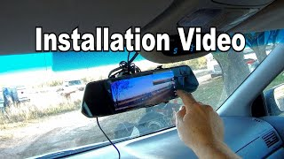 🚗 REVIEW: Caidrox Touchscreen Mirror Car Camera system. Front & Rearview. Installation and testing!