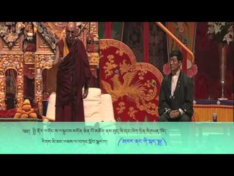 His Holiness the 14th Dalai Lama addresses Tibetans in Switzerland on April, 2013