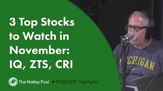 3 Top Stocks to Watch in November: IQ, ZTS, CRI