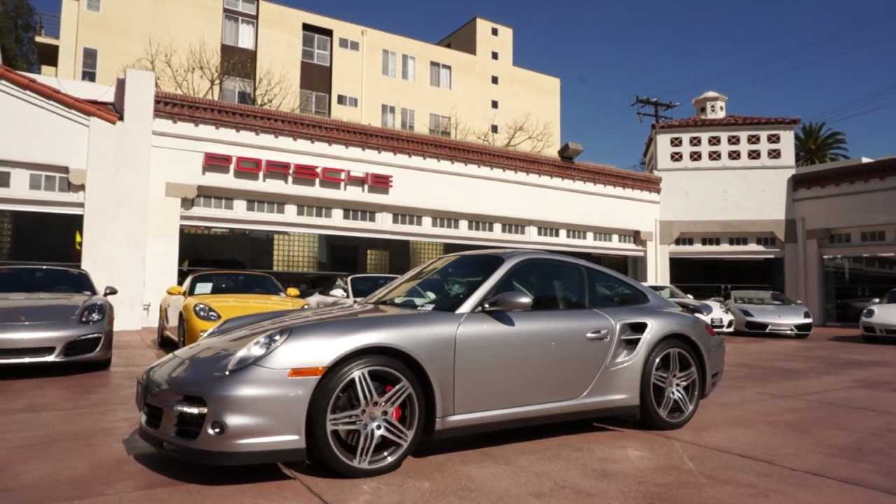 2007 Porsche 911 Turbo Coupe 3 6 Gt Silver Black Beverly